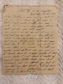 12th NC INFANTRY CONFEDERATE CIVIL WAR LETTER Sept. 17, 1861