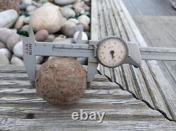 17TH C. ENGLISH CIVIL WAR 61mm. IRON CANNON BALL. Uncleaned
