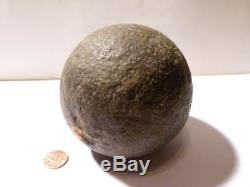17-18thC Civil War CANNON BALL 4 Dia weighs 4.75 Kilo EARL YARBOROUGH Estate #2