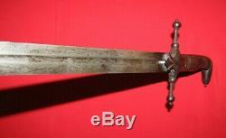 1830 1850 Dog Head / Pistol Pommel Pre Civil War Militia Sword