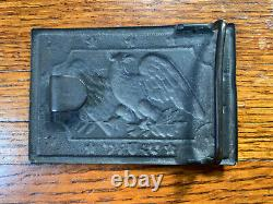 1850s-60s Civil War US Eagle Militia buckle plate withoriginal bullion belt