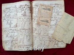 1852 Slavery document written by actual SLAVE Negro Plantation Foreman Civil War