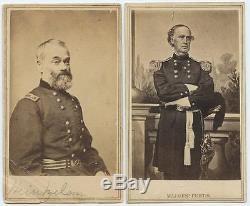 1860s CIVIL WAR CDV ALBUM IMPORTANT UNION GENERALS & COMMANDERS 18 IMAGES