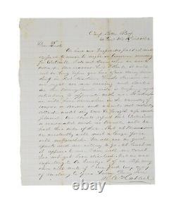 1862 Civil War Letter 14th New York Moves Toward Centreville & Manassas