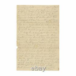 1862 Civil War Letter 30th Indiana Soldier Guarding Prisoners at Corinth, Miss