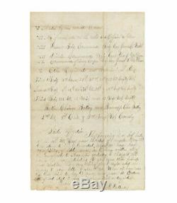 1862 Civil War Letter by Lieut. Frank D. Patterson, 15th Illinois Regt. History