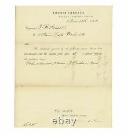 1862 Civil War Letter to US Marine Corps Paymaster, Major William W. Russell