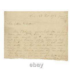 1862 Civil War Officer Letter 6th New Jersey Regiment at Battle of Seven Pines