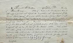 1862 Civil War Union Army Enlistment Paper, 26th Regiment Indiana Vol Infantry