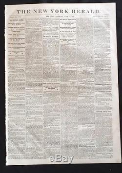 1863 CIVIL WAR newspaper CONFEDERATE EYEWITNESS Account of BATTLE of GETTYSBURG