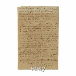 1863 Civil War Letter 1st SC State Troops Yankees Firing Upon Charleston