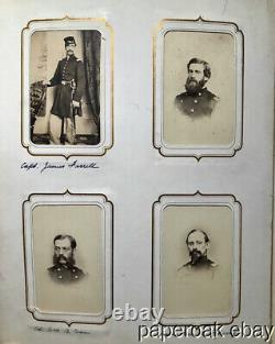 1863 Civil War Presentation Photo Album From 48th New York Volunteer Infantry