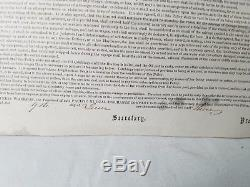 1863 Insurance Policy Whaling Ship Mary Ann Against Attack Civil War Confederate