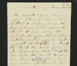 1864 Civil War 2 pg Letter From Soldier Notifying a Father of His Son's Death
