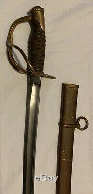 1864 Civil War Cavalry Sword Emerson & Silver Saber Scabbard DFM Model 1860
