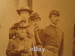 1864 Mathew Brady Stamp Sheridan Army Potomac White House CIVIL War Photo Scarce