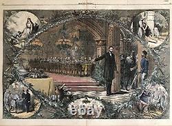 1864 Thomas Nast Abraham Lincoln CIVIL War Harpers Weekly Christmas Engraving