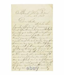 1865 Civil War Letter by 8th Illinois Surgeon Re Death of 46th Illinois Officer