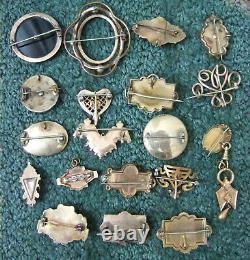 19 Gold CIVIL War Era Brooch/ Pins Lot Mourning Pins, Decorative & Elaborate! Gf