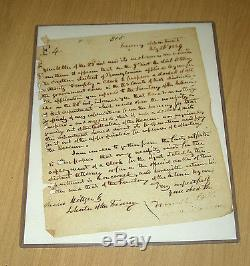 2015 Historic Autographs Civil War Howell Cobb signed letter autograph LOA