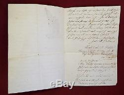 2 Antique CIVIL WAR LETTERS on UNION STATIONARY General McClellan GENERAL GRANT