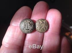 2 nice dug civil war buttons, confederate