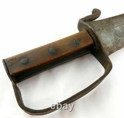 A Big Long Confederate CIVIL War Short Sword Guard Knife Dagger