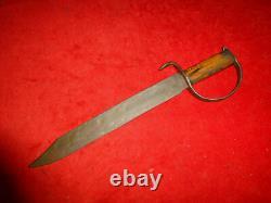A Great CIVIL War Era Confederate 18 D Guard Bowie Knife + Hickory Handle