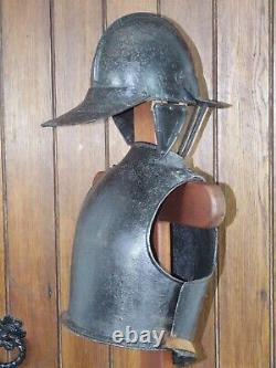 A fine set of Harquebus Armour dating from the English Civil War