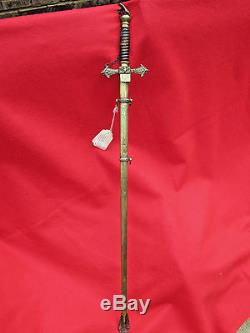 Alabama Corp Of Cadets Staff Officer Sword CIVIL War Ca, 1870-96 Confederate Vet