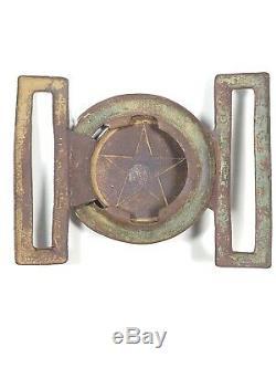 Amazing 1850s /60s Pre Civil War Gold Rush Star Original Belt Buckle Dug