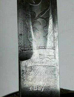 American CIVIL War M 1850 Foot Officer Sword Sauerbier Newark New Jersey
