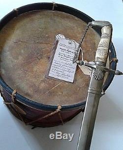 American CIVIL War Or Earlier Rope Snare Field Infantry Drum Not Sword Ca 1860