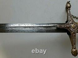 American Mexican War CIVIL War Early Ames General High Officer Sword Ca 1834-36