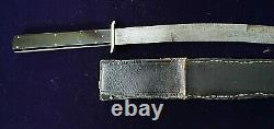American Mexican War CIVIL War High Grade Bowie Knife With Ebony & Silver Grip