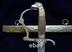 American Mexican War CIVIL War Horstmann Star Of Texas Eagle Head Officer Sword
