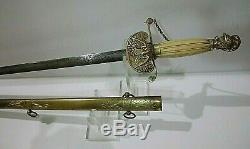 American Mexican War CIVIL War Militia Officer Sword Ca 1848
