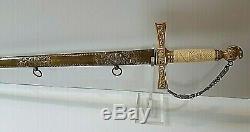 American Mexican War CIVIL War Officer Sword Presentation Grade Scabbard Ca 1845