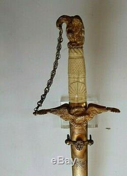American Mexican War CIVIL War Presentation Grade High Officer Sword Ca 1840-48