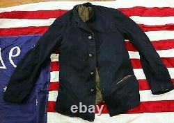 American Post CIVIL War Indian War Artillery 5 Button Sack Coat Jacket Not Sword