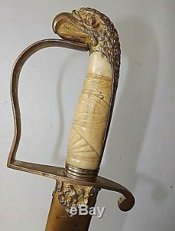 American War Of 1812 General Cavalry Eagle Head Sword Used In CIVIL War C 1810