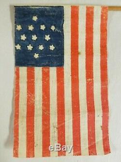 Antique 13 Star Flag Star of David Pattern Civil War Era Parade Flag size
