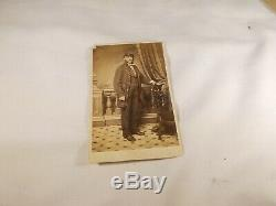 Antique 1800's U. S. Two 2 Cabinet Card Photo's CIVIL War Soliders In Uniforms