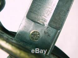 Antique 19 Century US Civil War German Made Presentation Foot Officer's Sword