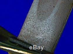 Antique 19 Century US Civil War Navy Cutlass Sword
