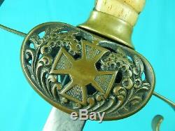 Antique 19 Century US Civil War Period Militia Sword with Scabbard