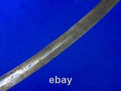 Antique 19 century US Civil War Engraved Blued Cavalry Sword Blade