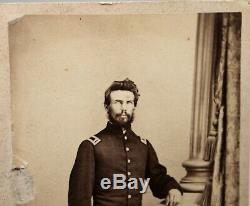 Antique American Civil War Soldier CDV Carte De Visite Photo, Uniform, Hat
