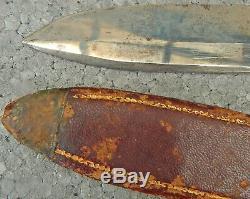 Antique BOWIE KNIFE US Civil War era by WADE & BUTCHER Sheffield