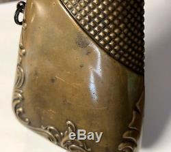 Antique CIVIL War American Flask & Cap Company Copper Rifle Stock Powder Flask